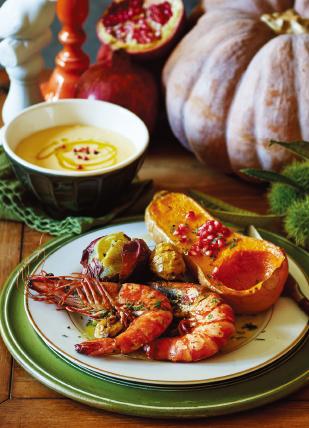 가을 제철 식재료로 만든 요리