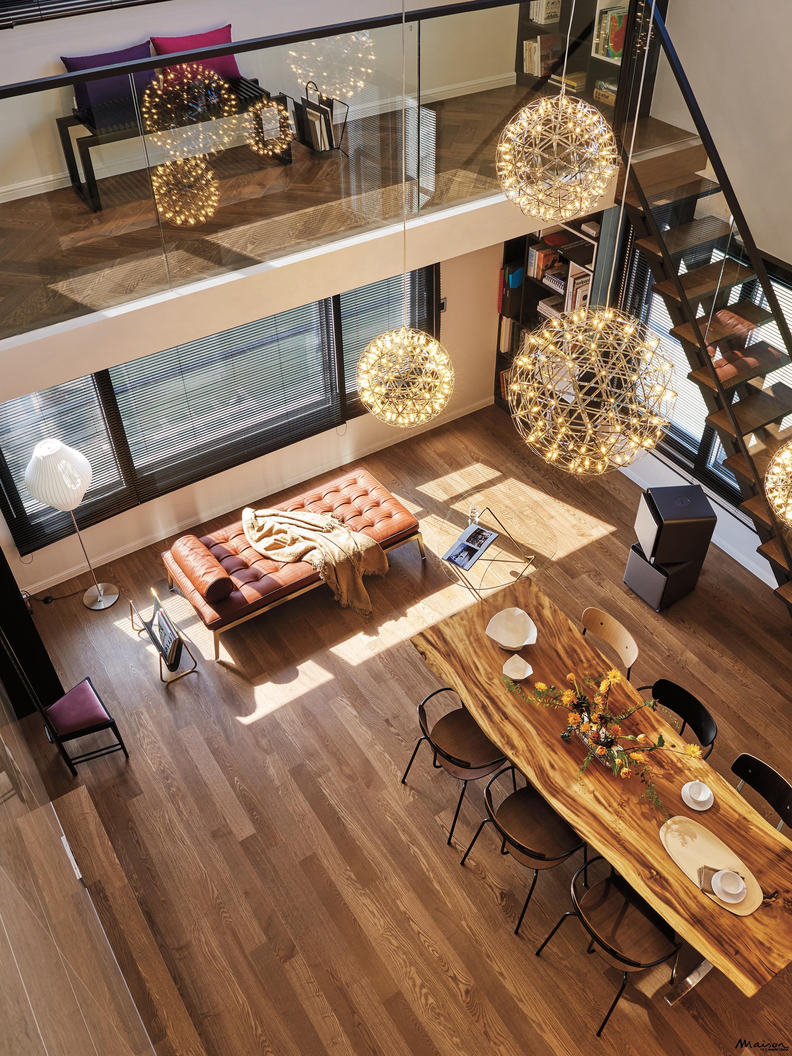 복층아파트 거실