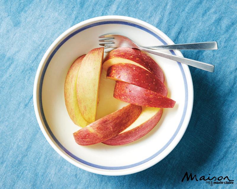 청송사과를 담은 모습