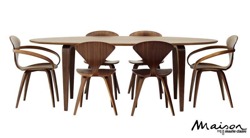 식스 오벌 테이블 클래식 월넛