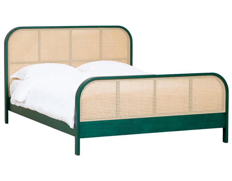 라탄 침대