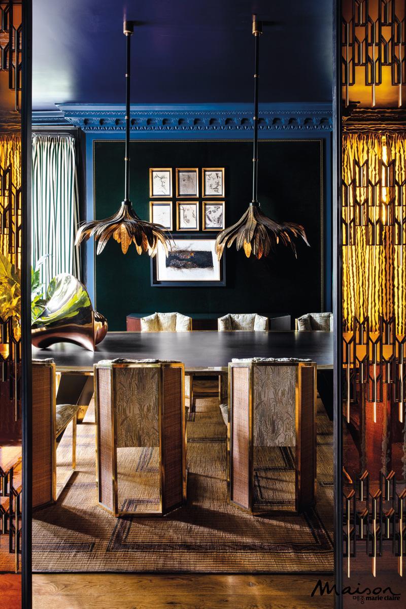테이블, 다이닝룸, 인테리어, 람파다