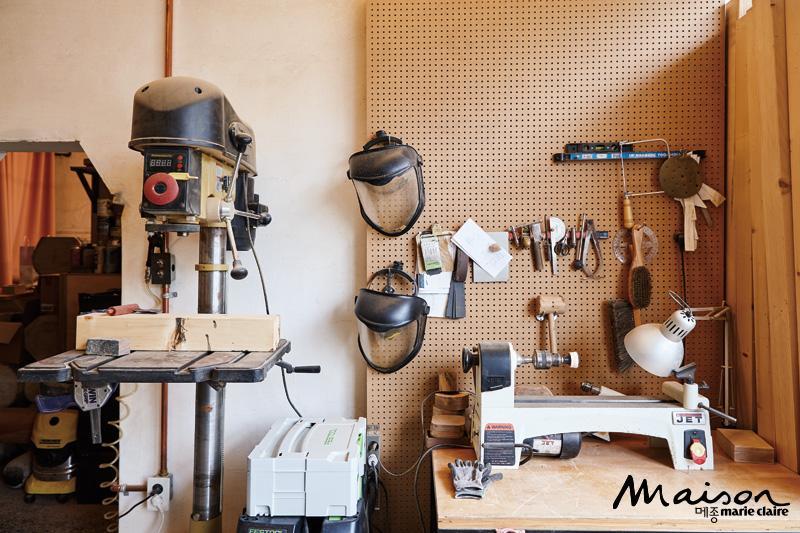 작업실, 워크 플레이스, 목선반, 제품 디자인