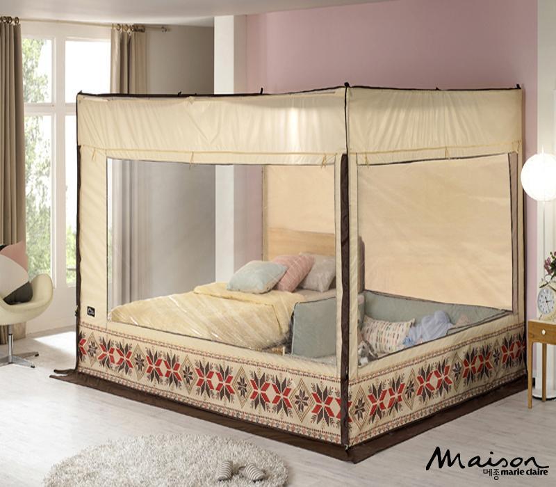 사각 난방텐트, 노르딕 패턴, 난방엔 텐트, 사각 보온 편안 아늑한 텐트