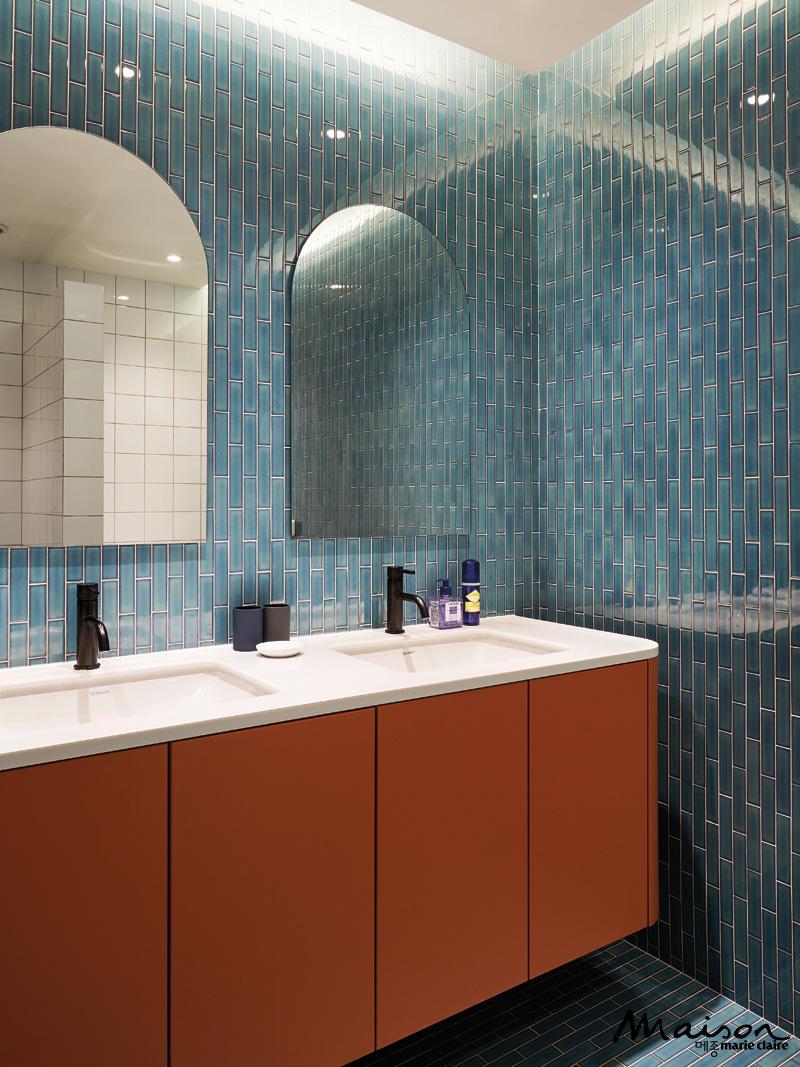 욕실 인테리어, 색감 조화 스타일링