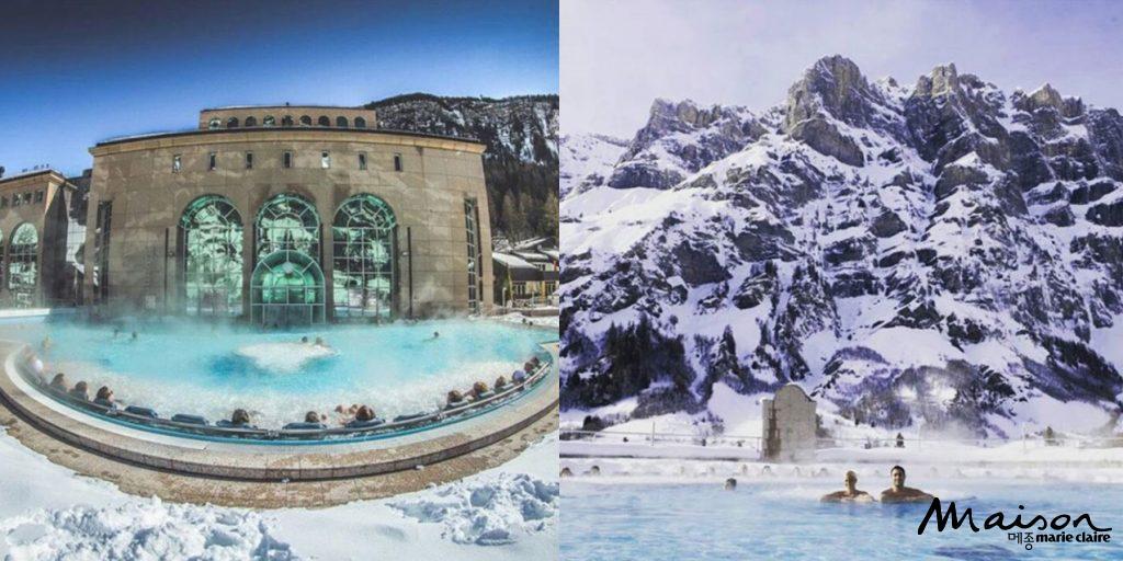 스위스온천 온천여행 겨울여행