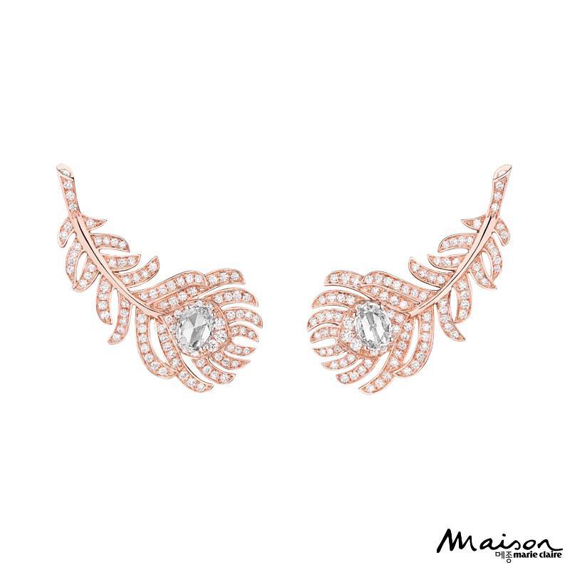 프레드릭 부쉐론, 페더, 플륌 드 펑 컬렉션, 다이아몬드, 핑크 골드